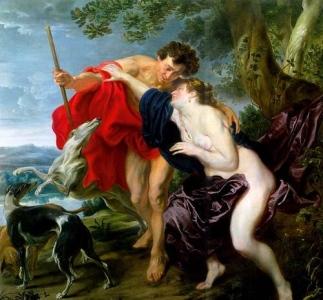 Anthony van Dyck - Venus and Adonis stern. Po renowacji.