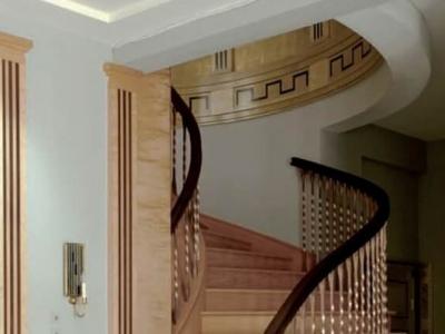 Klatka schodowa w stylu Art Deco w prywatnej rezydencji. Polska.