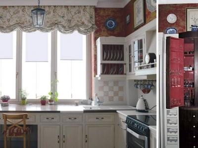 Kuchnia utrzymana w stylu Art Deco. Polska.
