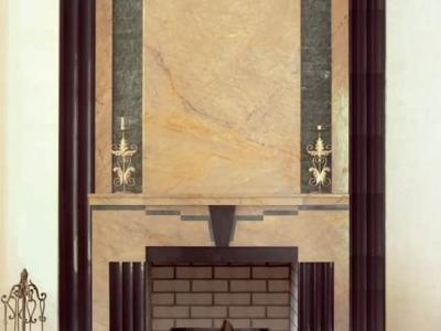 Pomieszczenie w stylu Art Deco. Polska.