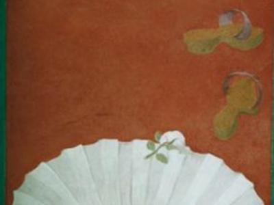 """Fragment dekoracji malarskiej w salonie kąpielowym pod tytułem """"Wenus"""". Technika al fresco buono."""