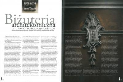 """l'eclat - listopad 2010 """"Biżuteria architektoniczna czyli powrót do tradycyjnych stylów"""" cz. 1"""