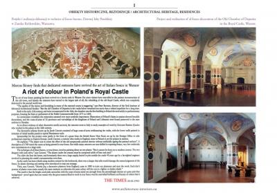 """The Times - 26.02.1992 """"Dawna izba poselska w zamku królewskim w Warszawie"""""""