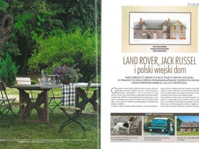 """Elle Decoration - czerwiec/lipiec 2006 """"Land Rover, Jack Russel i polski wiejski dom"""" cz. 1"""