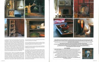 """Elle Decoration - czerwiec/lipiec 2006 """"Land Rover, Jack Russel i polski wiejski dom"""" cz. 3"""
