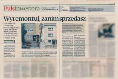 """Puls Biznesu - kwiecień 2013 """"Wyremontuj, zanim sprzedasz"""""""