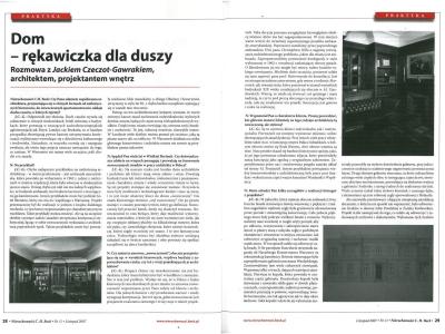 """Nieruchomości C. H. Beck - listopad 2007  """"Dom rękawiczka dla duszy"""" cz. 1"""